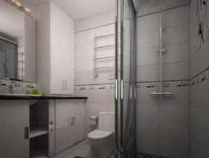 Дизайн ванної з великим душем фото 51