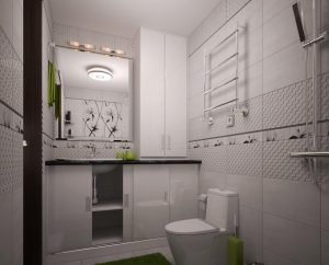 Дизайн ванної з великим душем фото 52