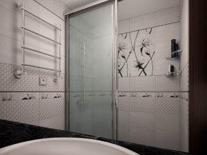 Дизайн ванної з великим душем фото 53