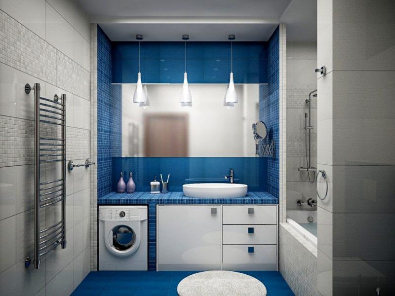 Дизайн великої ванної з душем - фото 19