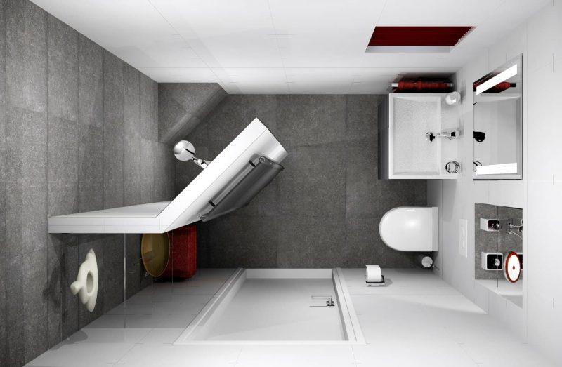 Планування санвузла з душем - фото 17