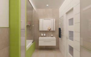 Планування ванної з душем і туалетом 1