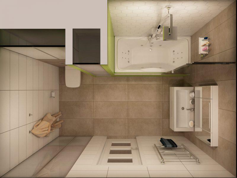 Планування ванної з душем і туалетом