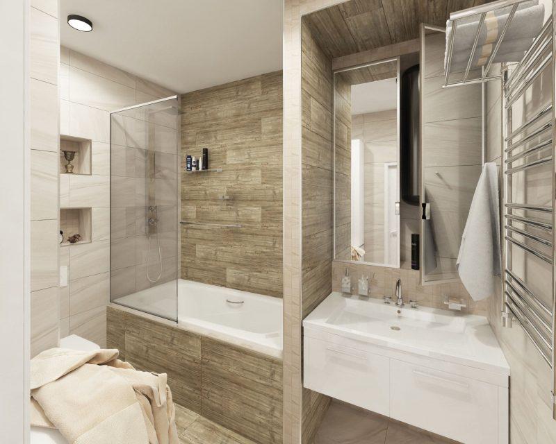 Планування ванної з туалетом - фото 34