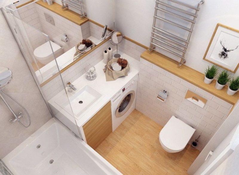 Планування ванної з душем - фото 23