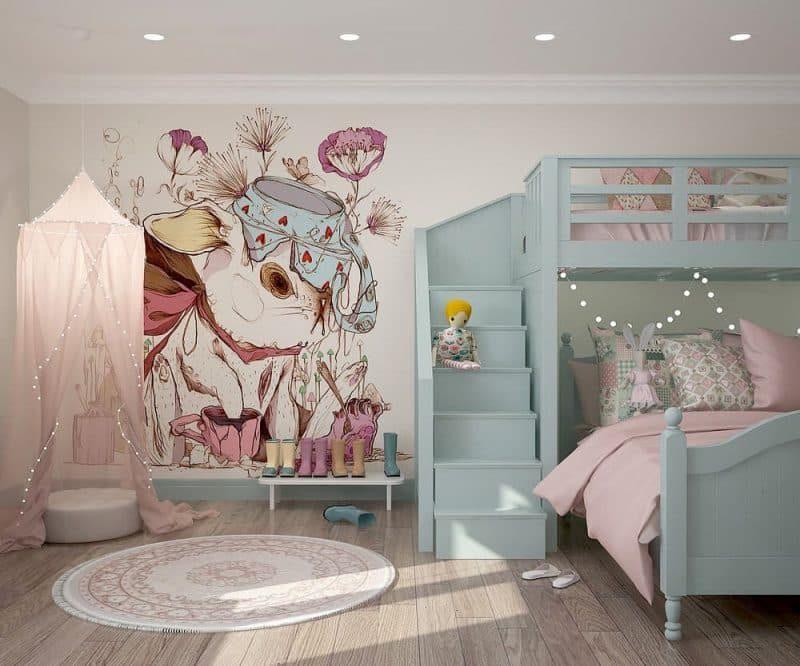 Дитяча кімната для двох дівчат - фото 1