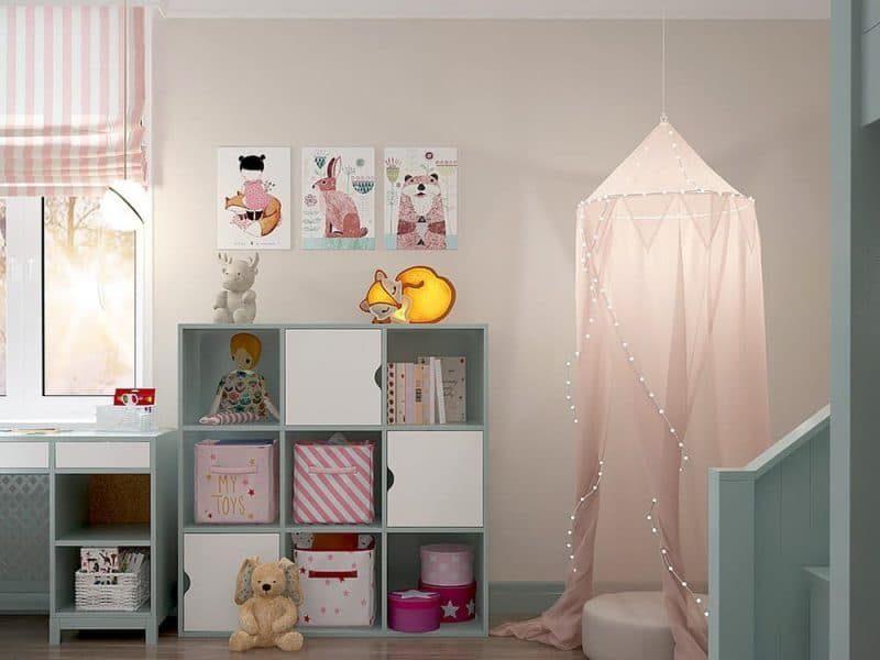 Дитяча кімната для двох дівчат - фото 2