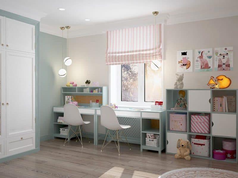 Дитяча кімната для двох дівчат - фото 3