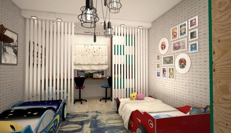 Дитяча кімната для двох хлопчиків - дизайн 1 фото 1