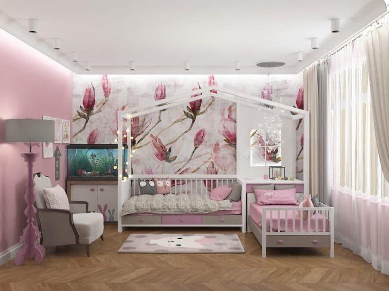 Дитячі кімнати для двох дівчаток - дизайн 5 фото 1