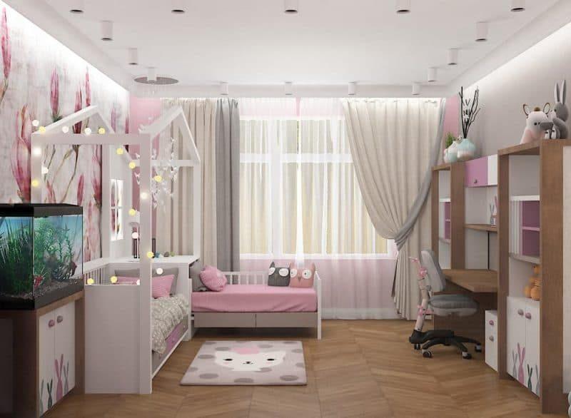 Дитячі кімнати для двох дівчаток - дизайн 5 фото 2