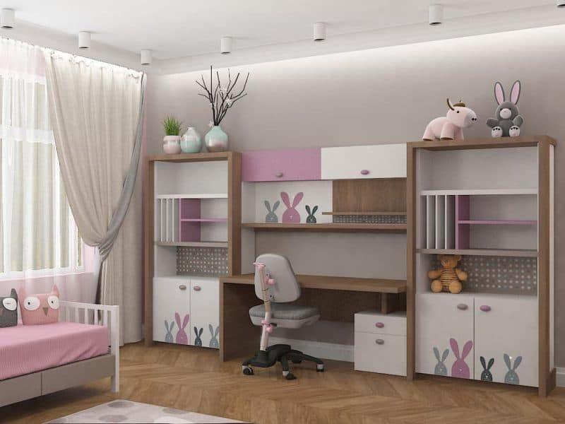 Дитячі кімнати для двох дівчаток - дизайн 5 фото 3