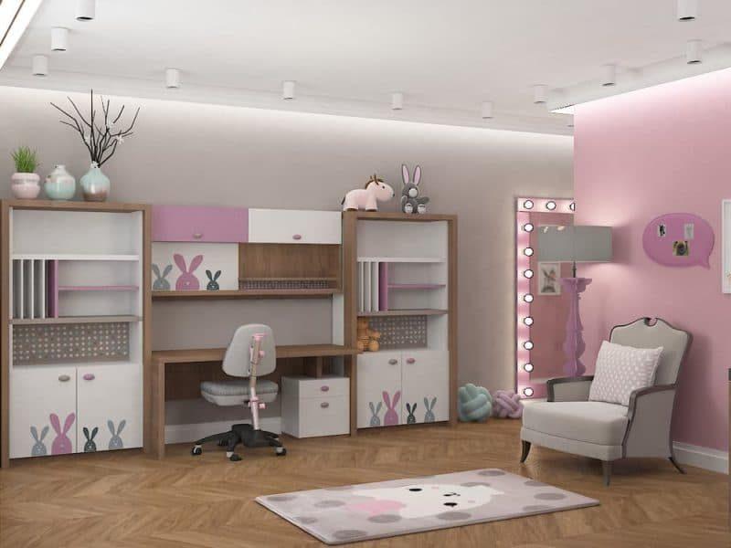 Дитячі кімнати для двох дівчаток - дизайн 5 фото 4