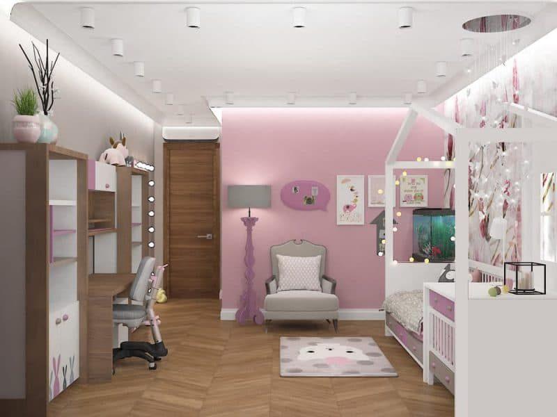 Дитячі кімнати для двох дівчаток - дизайн 5 фото 6
