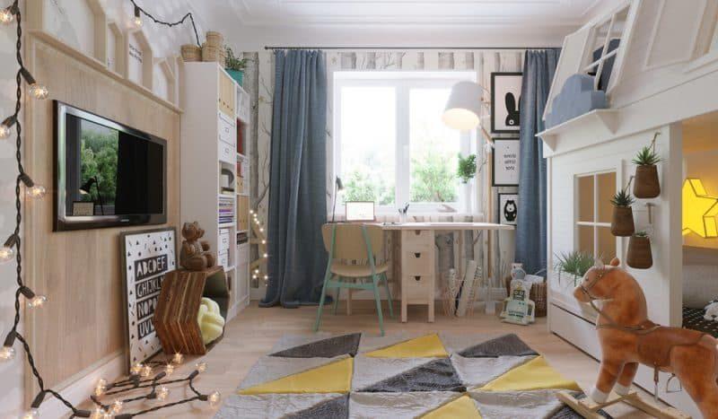 Дитячі кімнати для двох дівчаток - фото 1