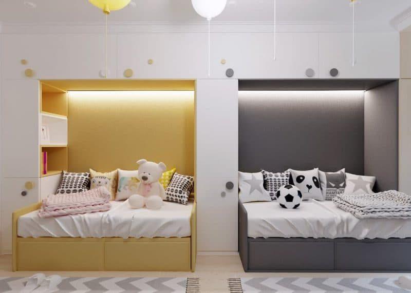 Дитячі кімнати для двох різностатевих дітей - фото 5