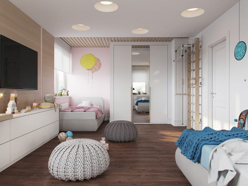 Дизайн дитячих кімнат для хлопчика та дівчинки - фото 1