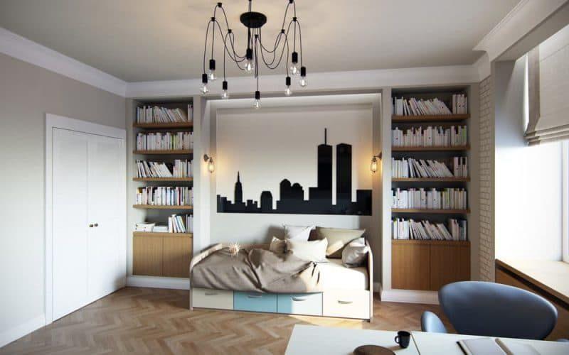 Дизайн кімнати для молодого хлопця в стилі лофт - фото 2