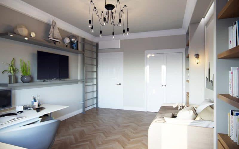 Дизайн кімнати для молодого хлопця в стилі лофт - фото 3