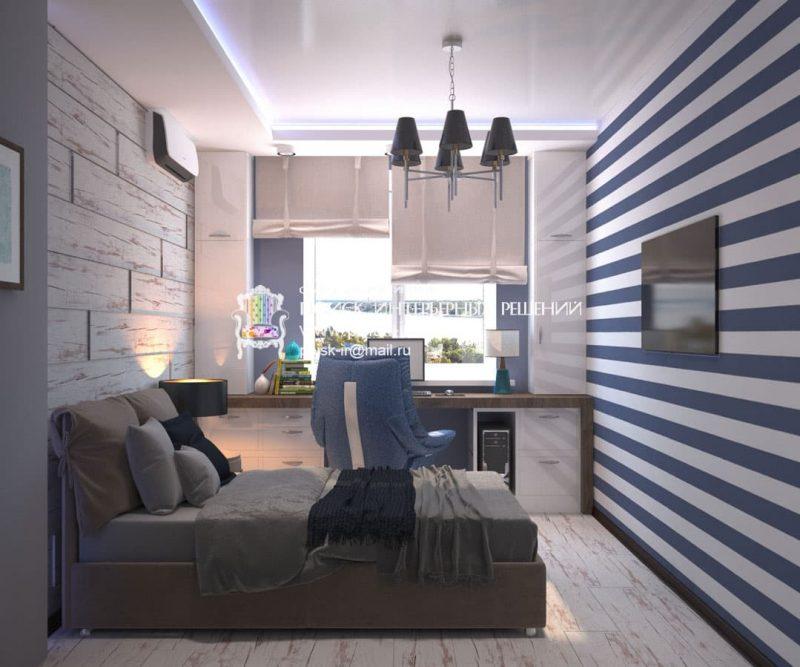 Дизайн кімнати для підлітка хлопця - фото 2