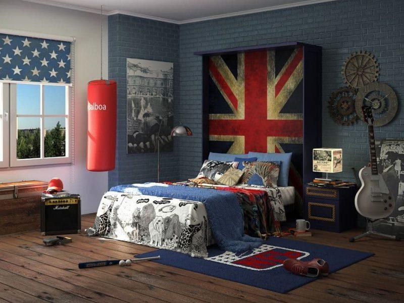 Дизайн кімнати для підлітка хлопця - фото 30