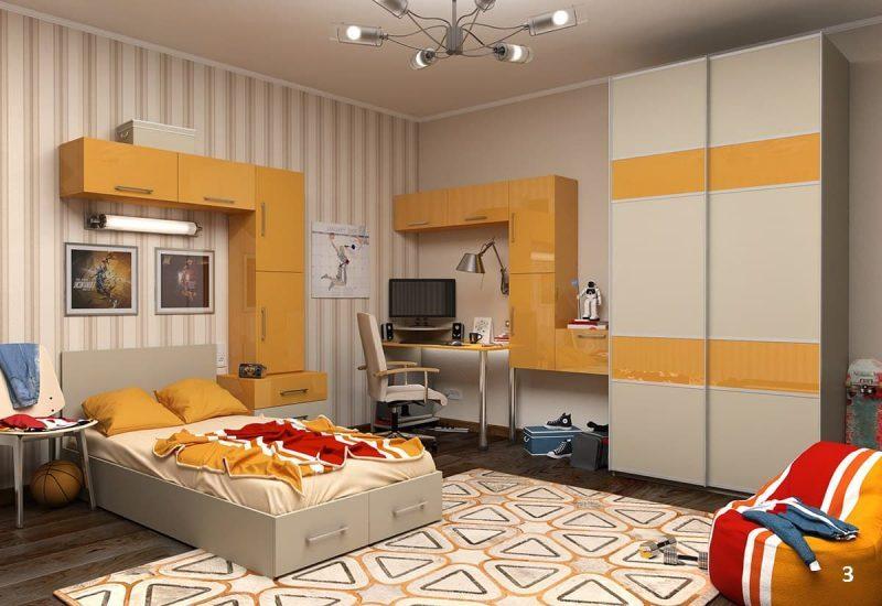 Дизайн кімнати для підлітка хлопця - фото 31