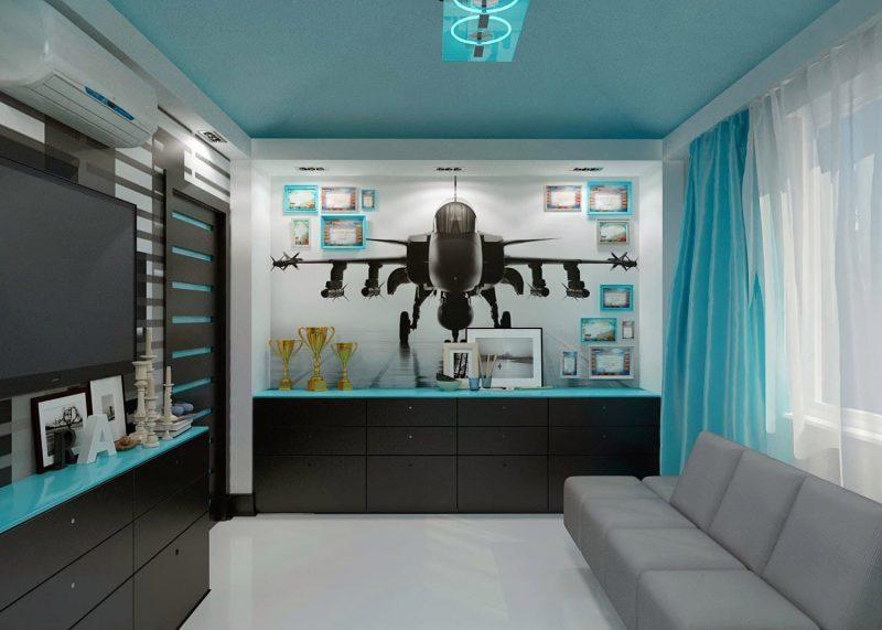 Дизайн кімнати для підлітка хлопця - фото 32