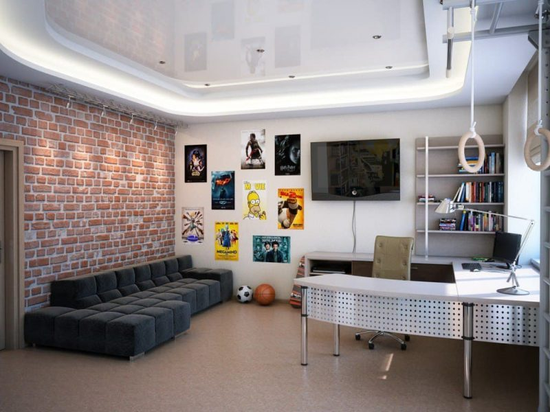 Дизайн кімнати для підлітка хлопця - фото 33
