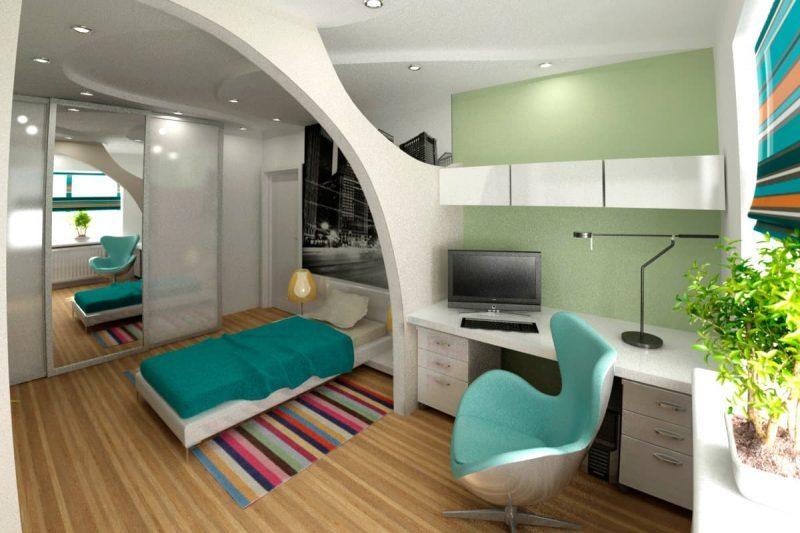 Дизайн кімнати для підлітка хлопця - фото 36