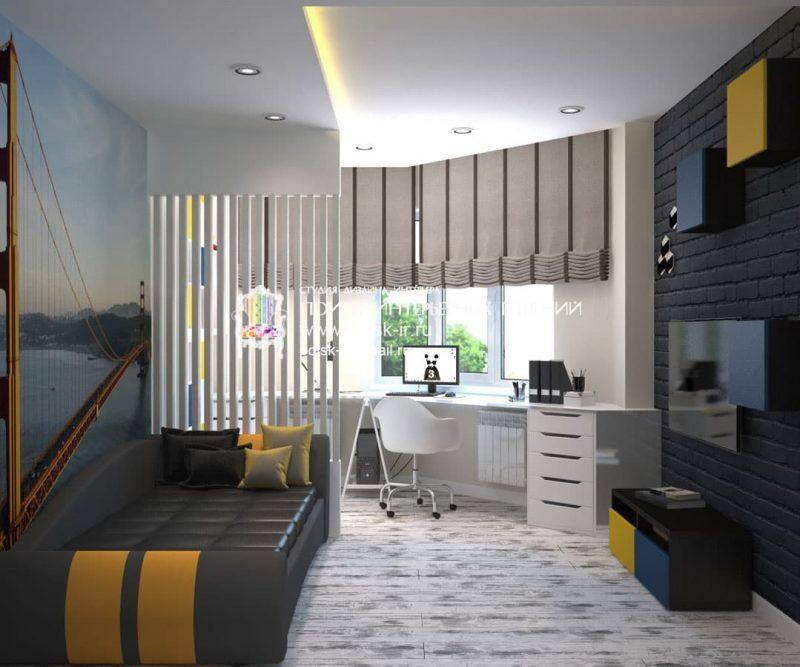 Дизайн кімнати для підлітка хлопця - фото 40
