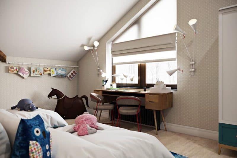Інтер'єр дитячої кімнати для двох дівчаток - фото 4