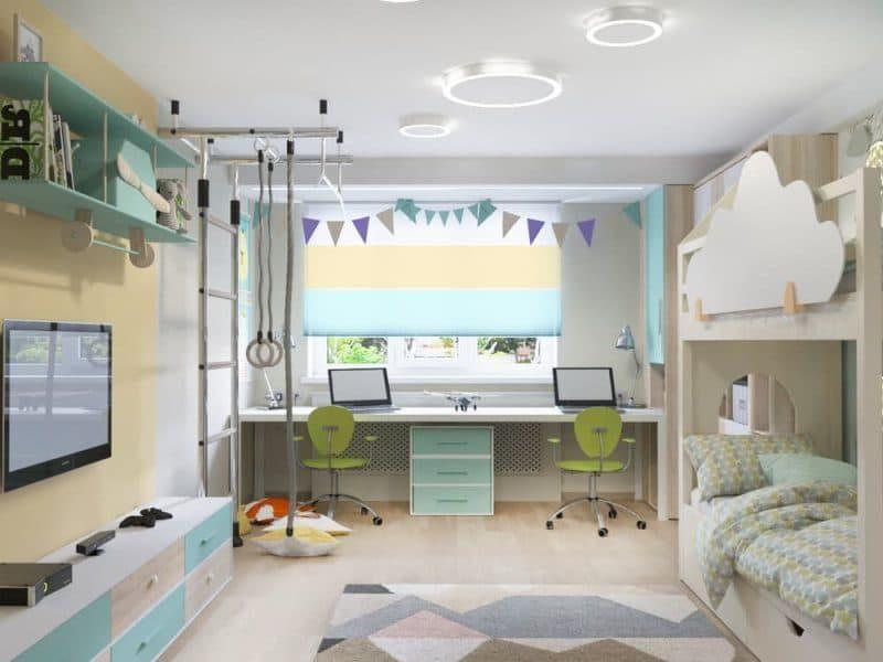 Інтер'єр дитячої кімнати для двох - фото 1