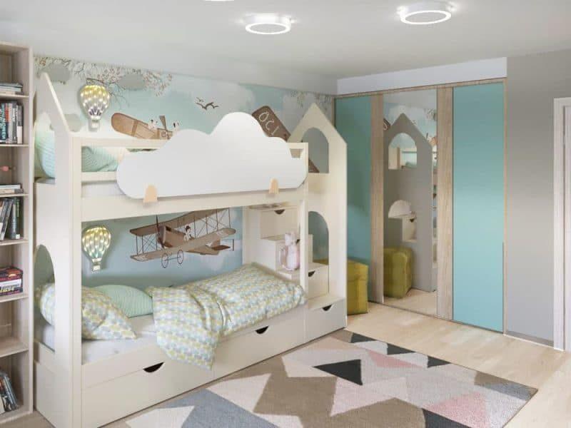 Інтер'єр дитячої кімнати для двох - фото 3