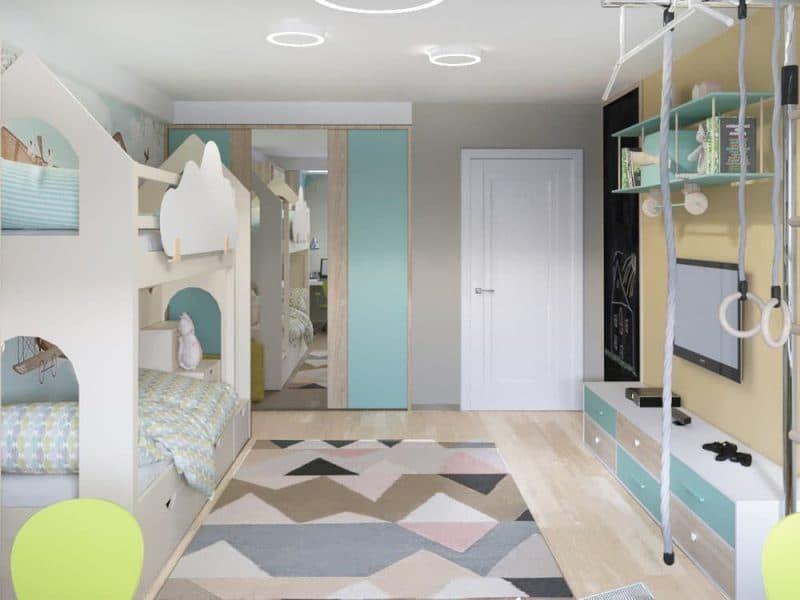 Інтер'єр дитячої кімнати для двох - фото 4