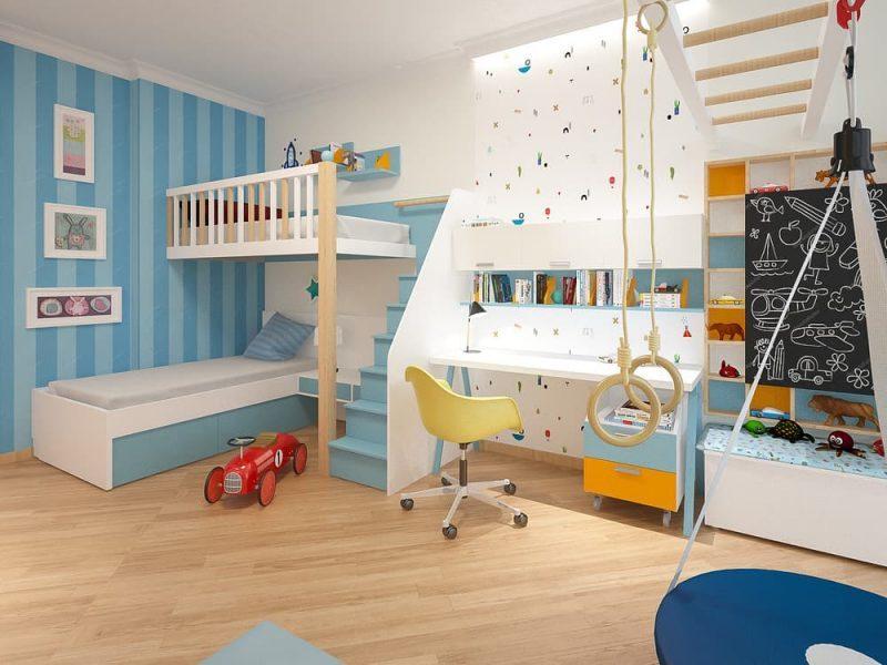 Сучасна дитяча кімната для двох хлопчиків - дизайн 1 фото 1