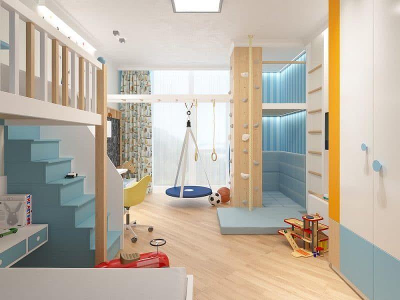 Сучасна дитяча кімната для двох хлопчиків - дизайн 1 фото 3