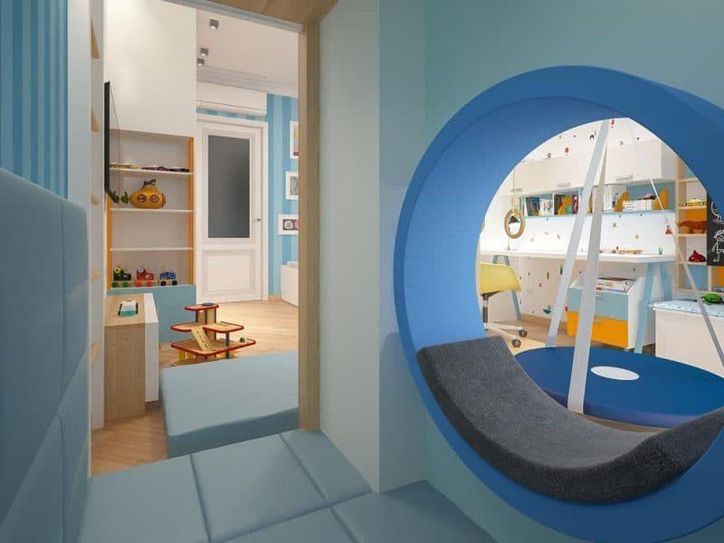 Сучасна дитяча кімната для двох хлопчиків - дизайн 1 фото 4