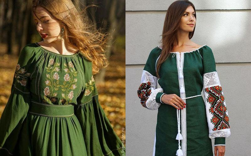 Вишиті плаття фото - 11