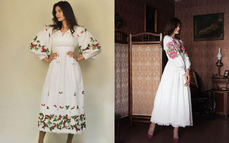 Вишиті плаття фото - 5
