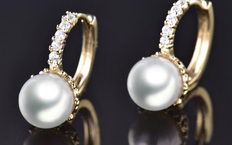 Модні золоті сережки фото -2