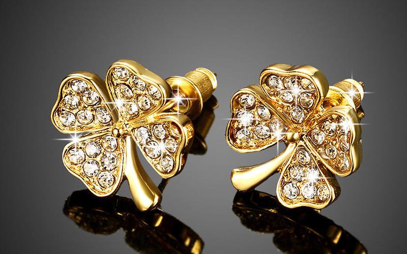 Модні золоті сережки фото - 22