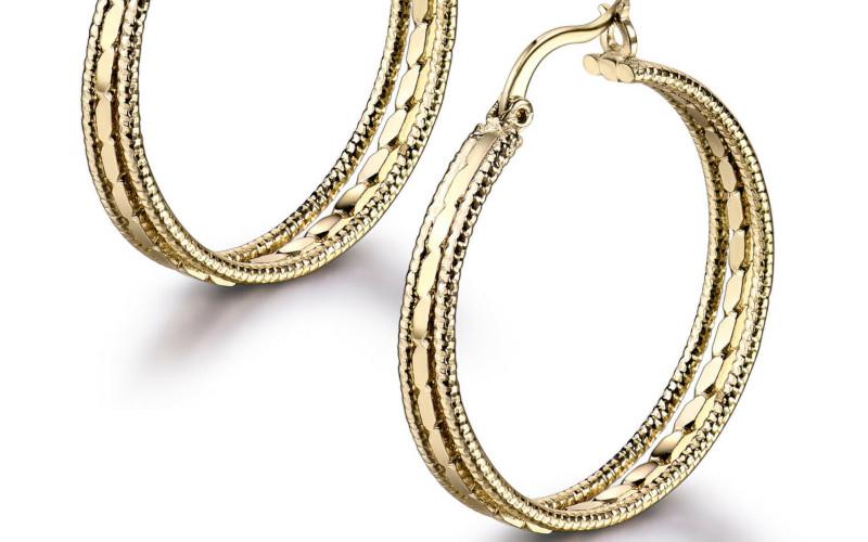 Модні золоті сережки фото - 23