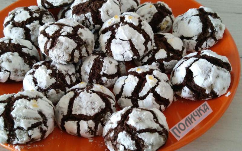 Шоколадне печиво з тріщинами рецепт фото - 18