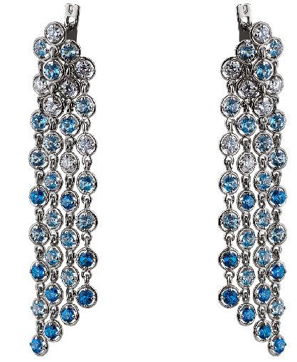 Сережки з діамантами і топазами