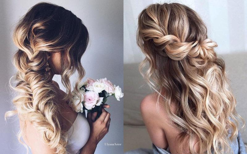 Весільні зачіски на довге волосся фото - 1