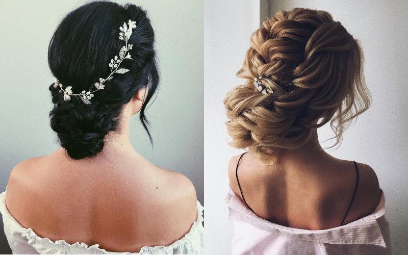Весільні зачіски на довге волосся фото - 3
