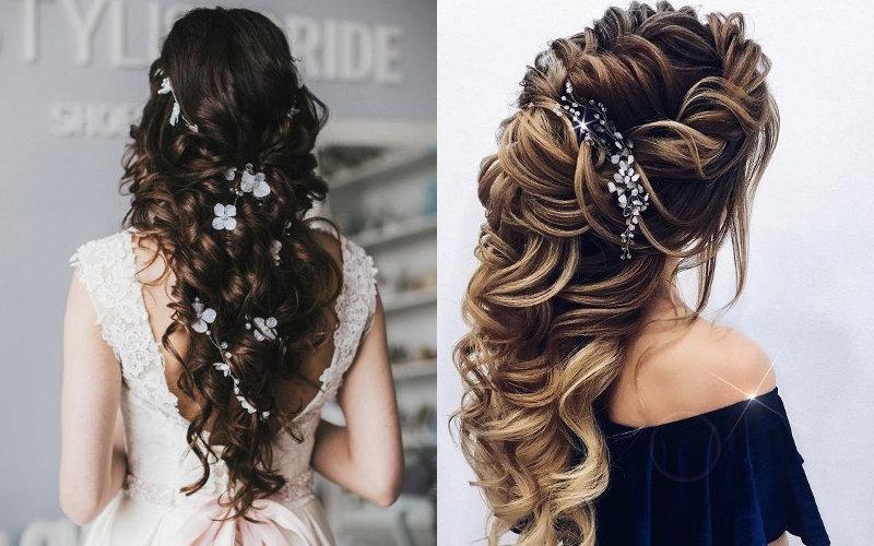 Весільні зачіски на довге волосся фото - 4