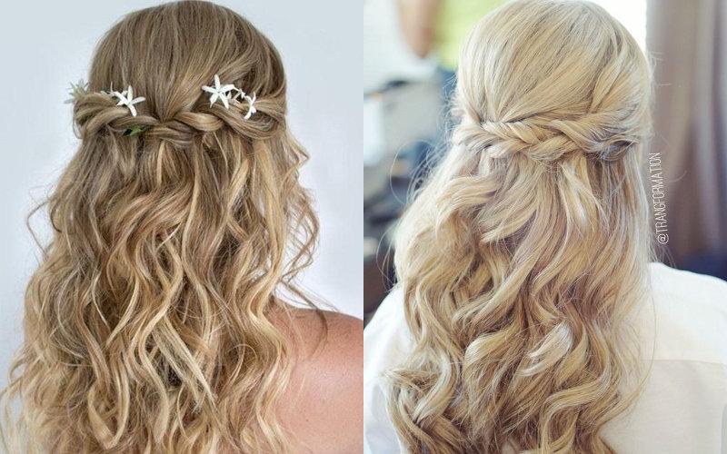 Весільні зачіски на довге волосся фото - 5