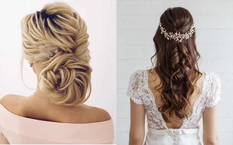 Весільні зачіски на довге волосся фото - 6