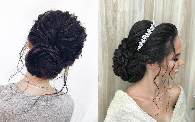 Весільні зачіски на довге волосся фото - 8